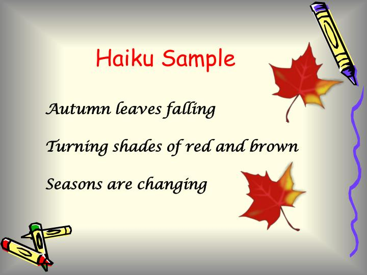 Haiku Sample