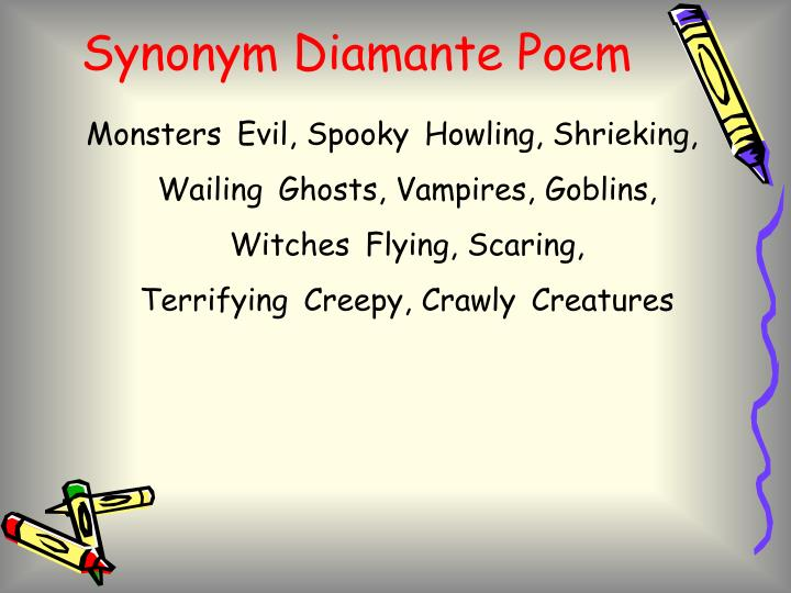 Synonym Diamante Poem