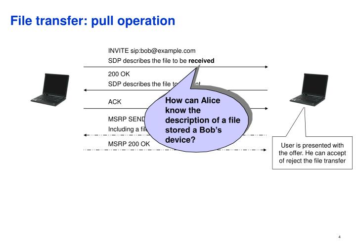 File transfer: pull operation