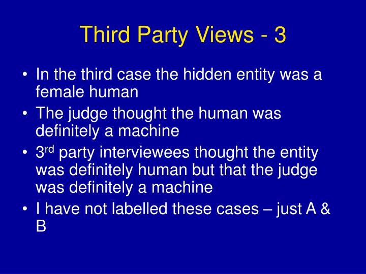 Third Party Views - 3