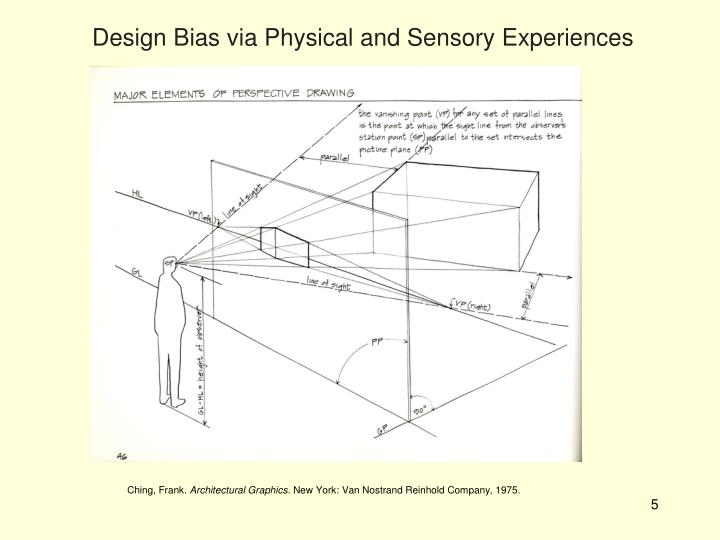 Design Bias via Physical and Sensory Experiences