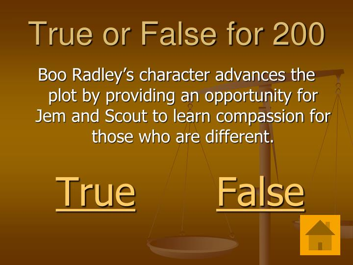 True or False for 200