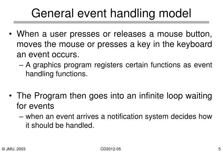 General event handling model