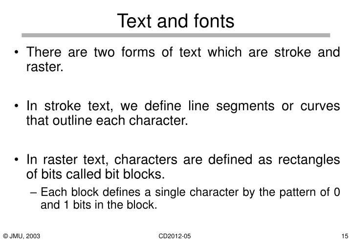 Text and fonts