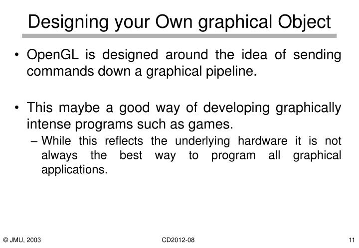 Designing your Own graphical Object