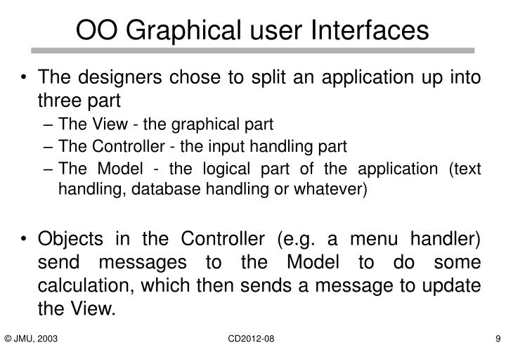 OO Graphical user Interfaces