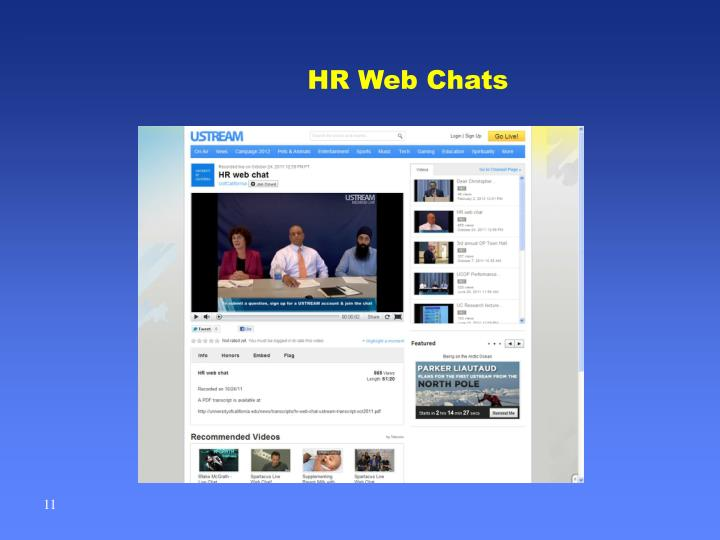 HR Web Chats