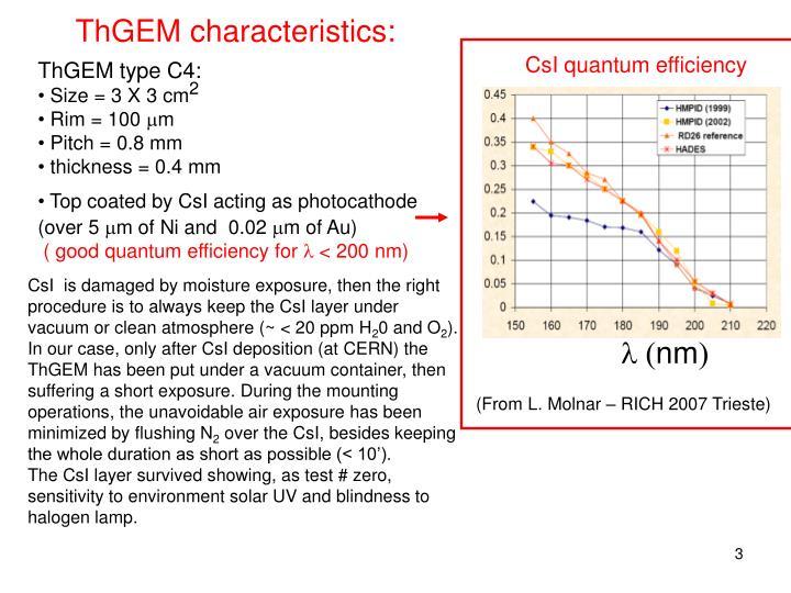 ThGEM characteristics: