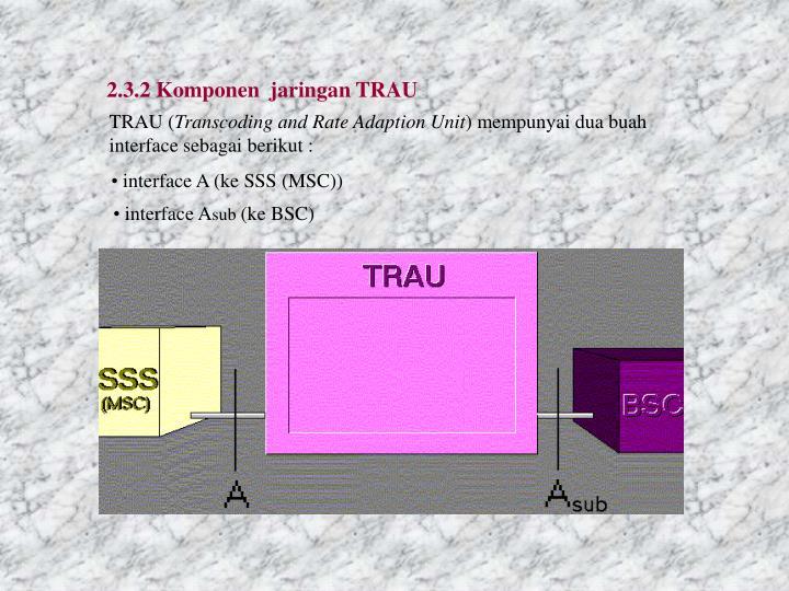 2.3.2 Komponen  jaringan TRAU