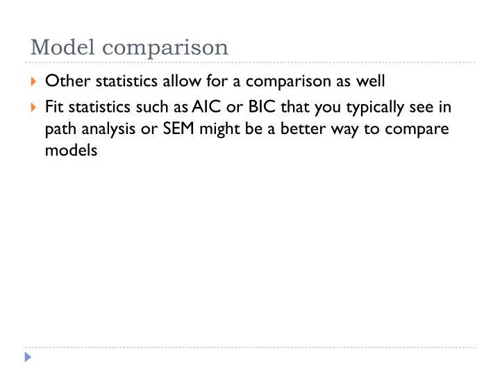 Model comparison
