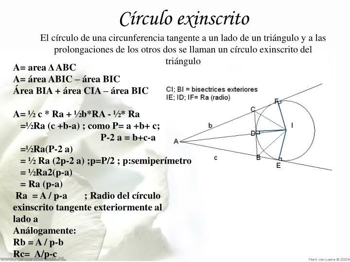 Círculo exinscrito