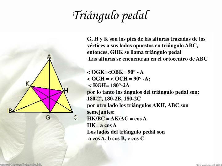 Triángulo pedal