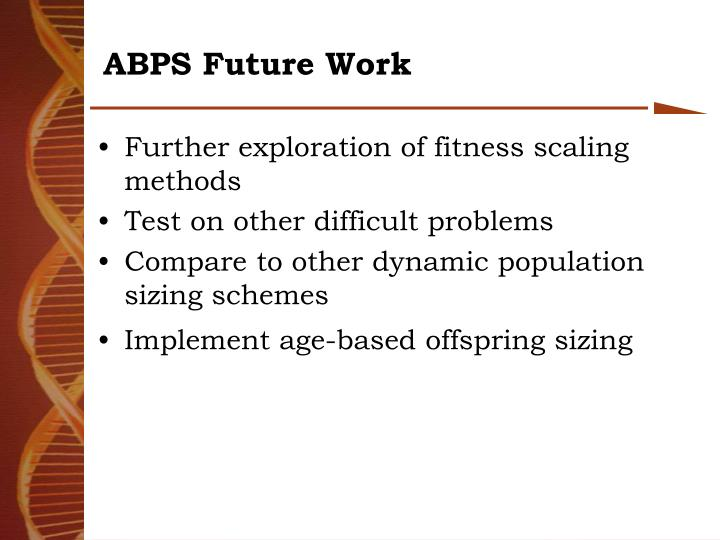 ABPS Future Work