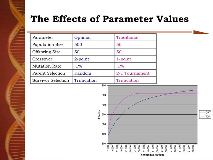 The Effects of Parameter Values