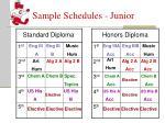 sample schedules junior