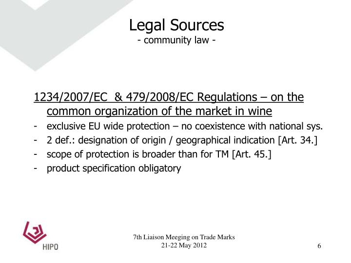 Legal Sources
