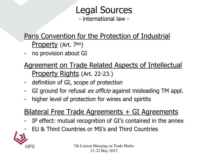 Legal sources international law