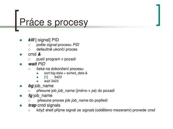 Práce s procesy