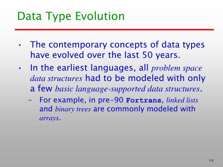 Data Type Evolution
