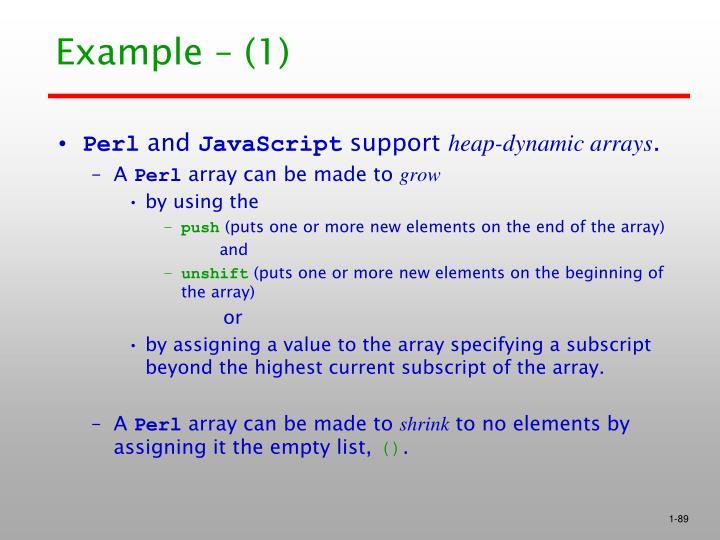 Example – (1)