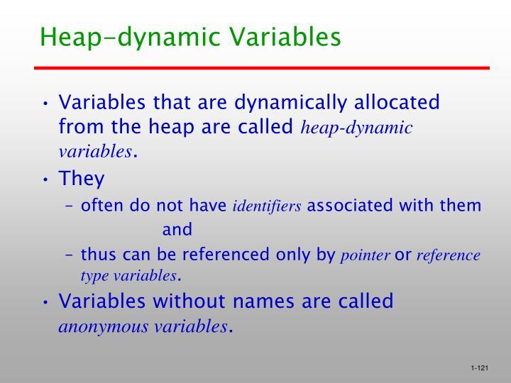 Heap-dynamic Variables