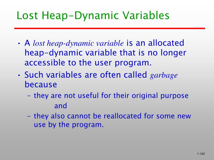 Lost Heap-Dynamic Variables