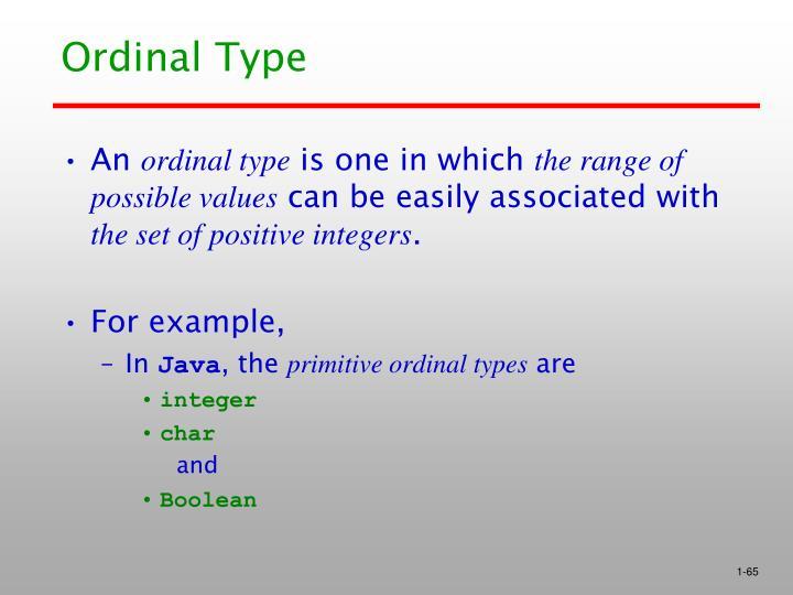 Ordinal Type