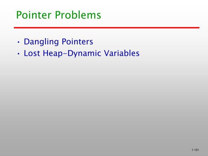Pointer Problems
