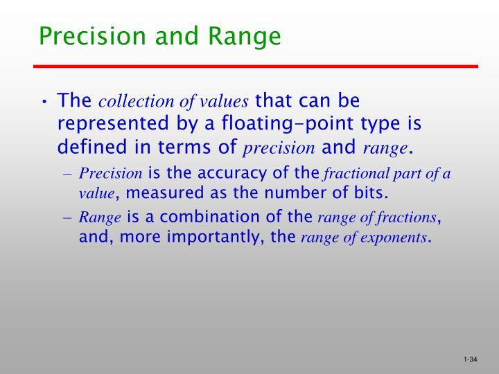 Precision and Range