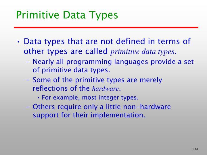Primitive Data Types