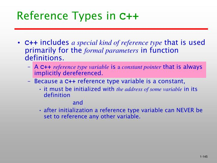 Reference Types in