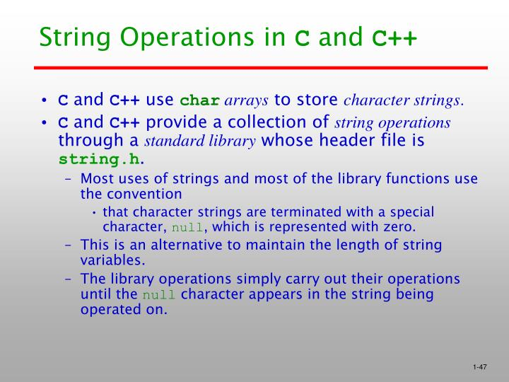 String Operations in