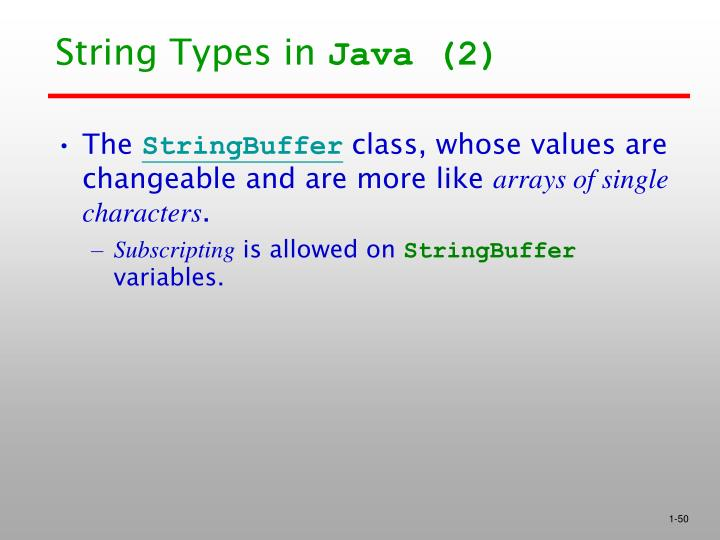 String Types in