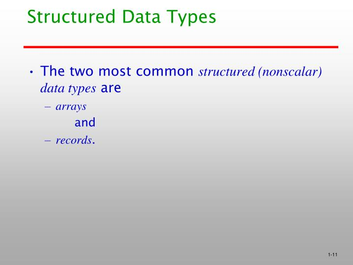 Structured Data Types