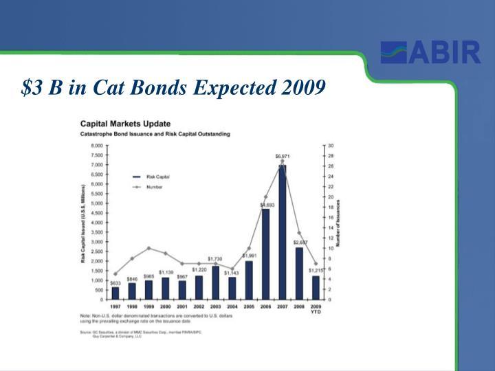 $3 B in Cat Bonds Expected 2009