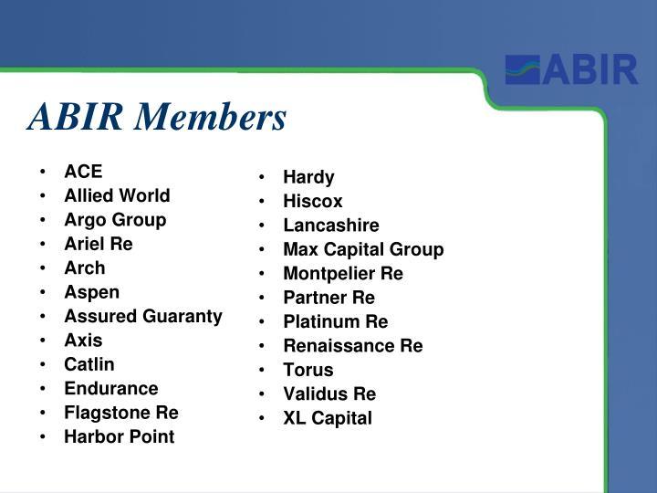 ABIR Members