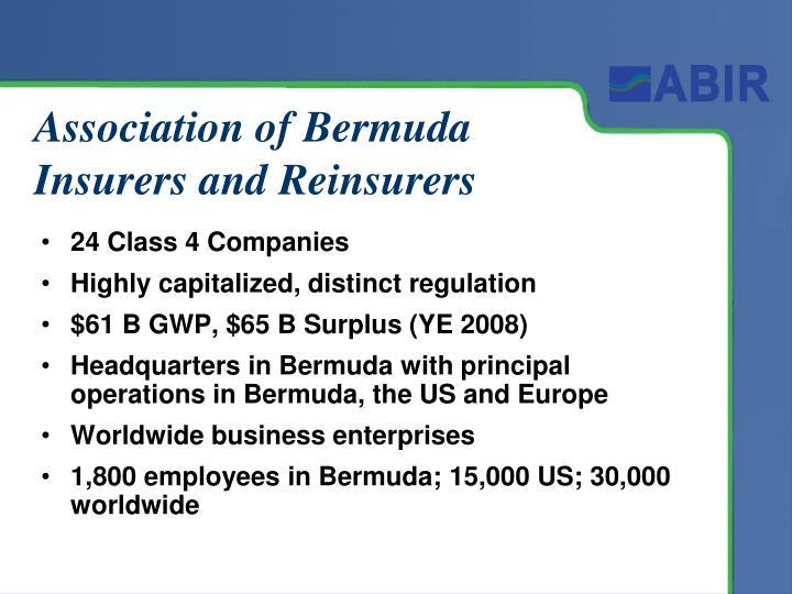 Association of Bermuda Insurers and Reinsurers