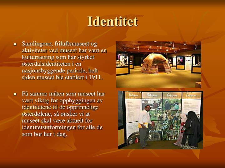 Samlingene, friluftsmuseet og aktiviteter ved museet har vært en kultursatsing som har styrket østerdalsidentiteten i en nasjonsbyggende periode, helt siden museet ble etablert i 1911.
