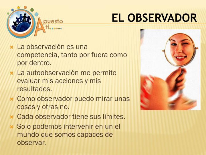 La observación es una competencia, tanto por fuera como por dentro.