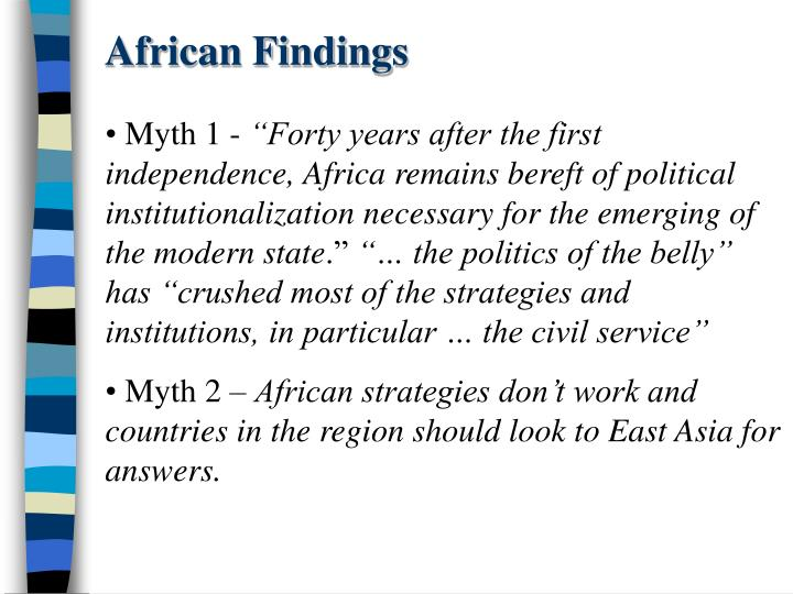 African Findings