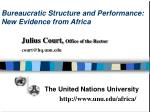 bureaucratic structure and performance new evidence from africa