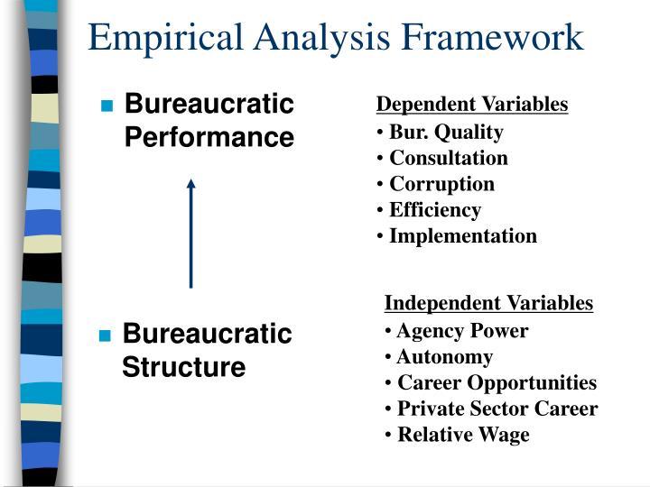 Empirical Analysis Framework