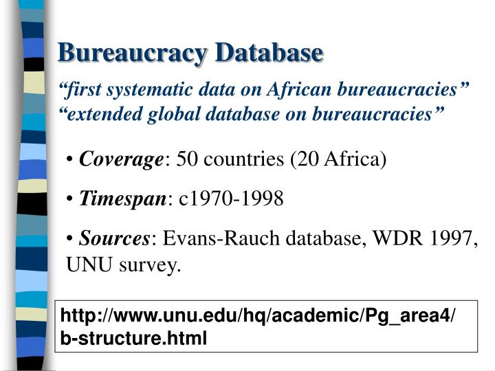 Bureaucracy Database
