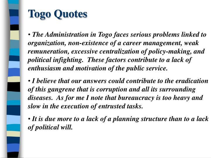 Togo Quotes