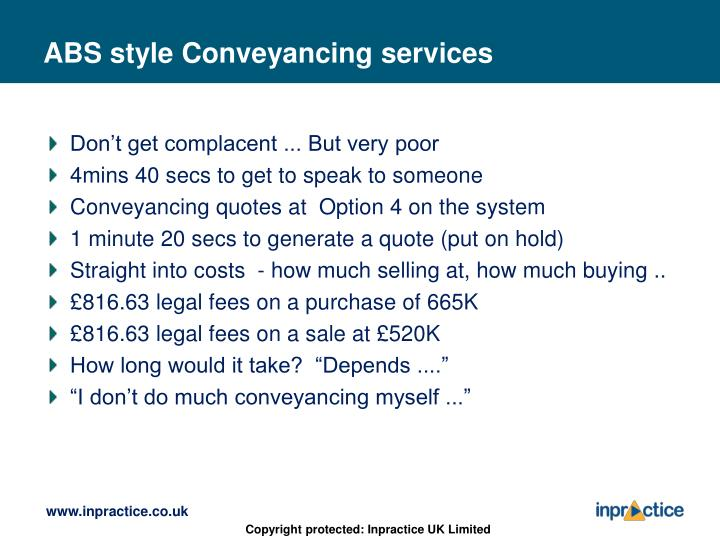 ABS style Conveyancing services