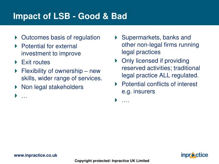 Outcomes basis of regulation