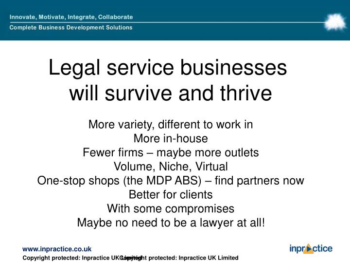 Legal service businesses