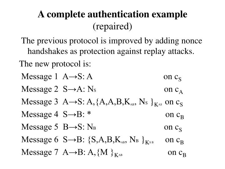 A complete authentication example