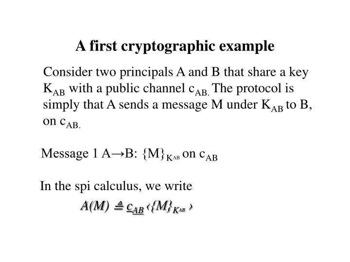 A first cryptographic example