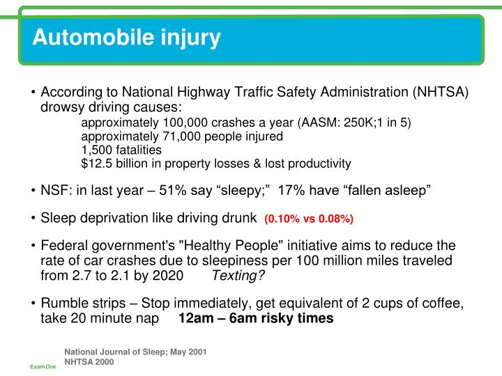 Automobile injury